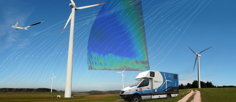 Wind energy reseach illustration